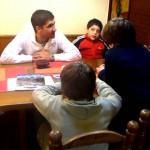 Los chicos entrevistan a Diego